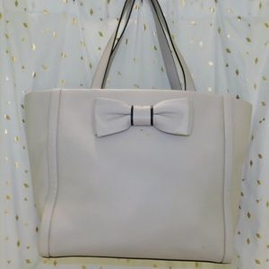 OFFWHITE/LIGHT GRAY KATE SPADE PURSE